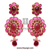Kundan Necklace Bridal Set  -Pink Colour - Hayagi