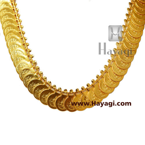 Putli Chapla Haar Short Lakshmi Coin Temple Necklace_Hayagi