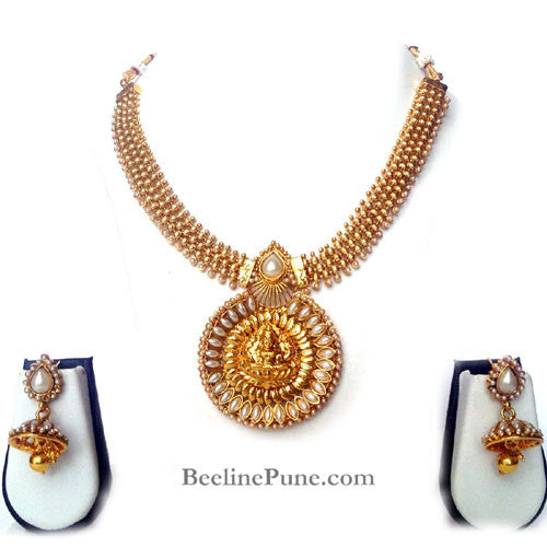 6b1d70844 Laxmi Temple Necklace Set Online India