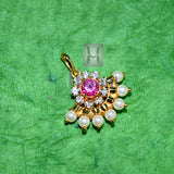 Traditional Temple Golden Pearl Pendant Buy Online _Hayagi