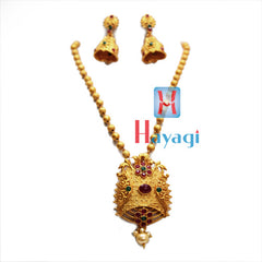 Temple Jewellery Multicolour Circle Flower Design ,Online - Hayagi