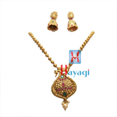 Temple Jewellery Multicolour Petal Flower Design ,Online - Hayagi