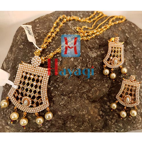 Unique Design Pendant Set Pearl Studded Online India-Hayagi Pune