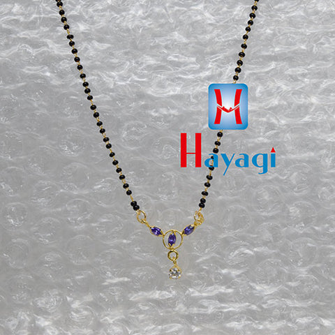 Mangalsutra Pendant AD Purle Colour Design Buy Online-Hayagi