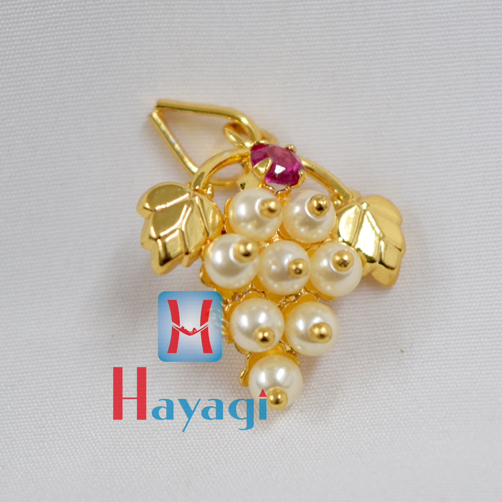 Traditional Golden White Pearl Pendant Buy Online_Hayagi(Pune)