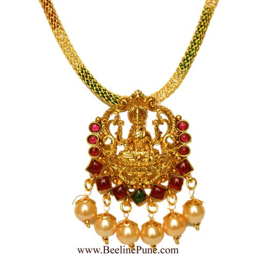 One Gram Gold Temple Laxmi Pendant Set Online India - Hayagi - Beeline  - 2