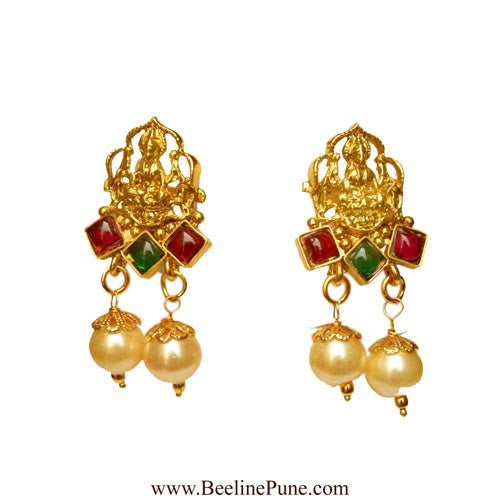 One Gram Gold Temple Laxmi Pendant Set Online India_Hayagi(Pune)