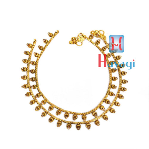 Painjan, Stone Studded Anklet, Payal Online Shopping-Hayagi