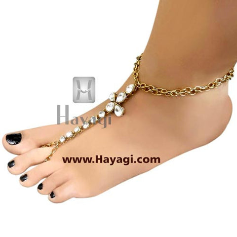 Bridal Anklets, Kundan Foot Decor Accessories Anklets - Hayagi