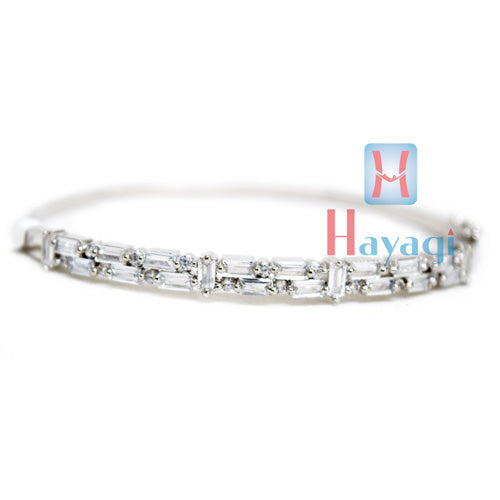 Bracelet With AD Stones Silver Polish Design Bracelet for Women