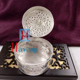 Silver Finish Jewelry Box or Pan Box_Hayagi(Pune)