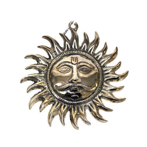 Sun Wall Hanging Statue In Silver Finish Online- Hayagi