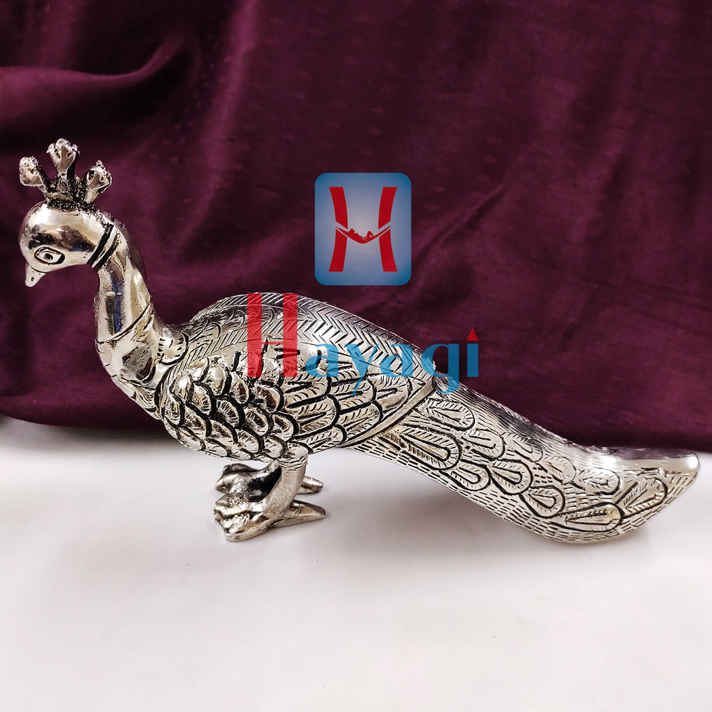 Peacock Statue For Home Decore/Gifting Metal Solid Item- Hayagi