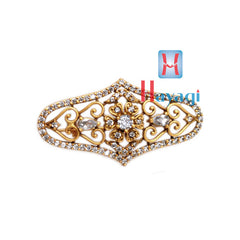 Saree Pin Oval Shape White Stones Design Buy Online- Hayagi