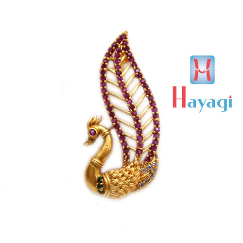 Saree Pin Peacock Feather Multicolour Design Buy Online- Hayagi