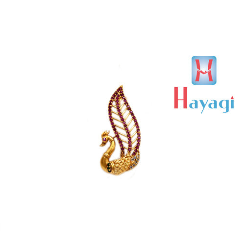 Saree Pin Peacock Feather Multicolour Design Buy Online_Hayagi