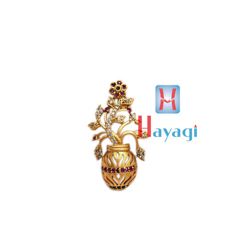 Saree Pin Brooch Multicolour Flower Pot Design Buy Online- Hayagi
