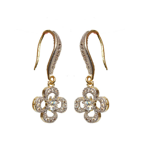 American Diamond Studded Earrings- Danglers - Hayagi - Beeline  - 2