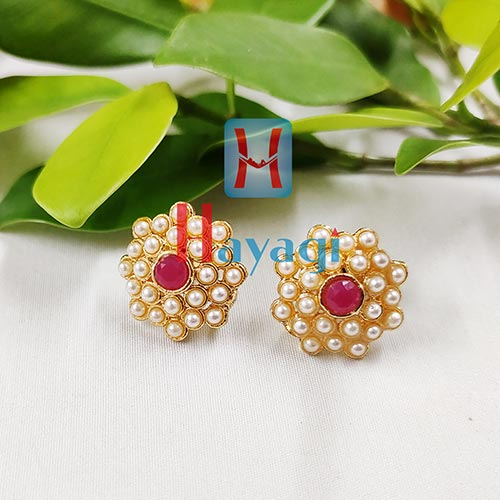Tops Off White Pearls & Maroon Pearls _Hayagi(Pune)