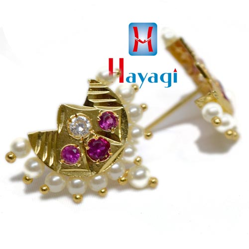 Pearl Pink Stone, Chand Design Tops Online_Hayagi