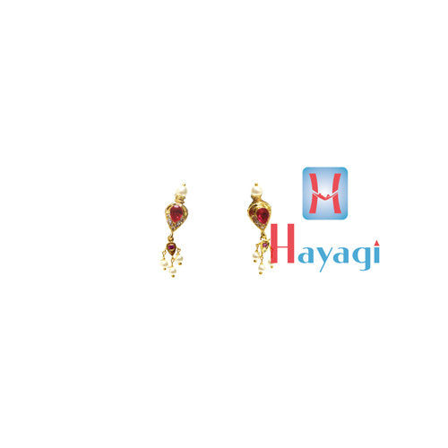 Traditional Moti Thushi Tops Earrings Pink Pearl Online-Hayagi