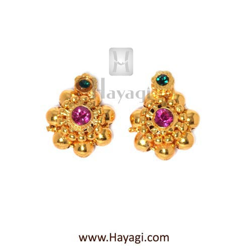 Maharashtrian Kudi Thushi Earrings Tops Buy Online - Hayagi - Beeline  - 2