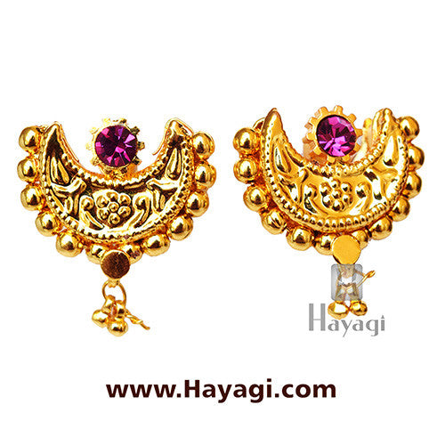 Traditional Chand Thushi Latkan Saaj Earrings Tops Online _Hayagi