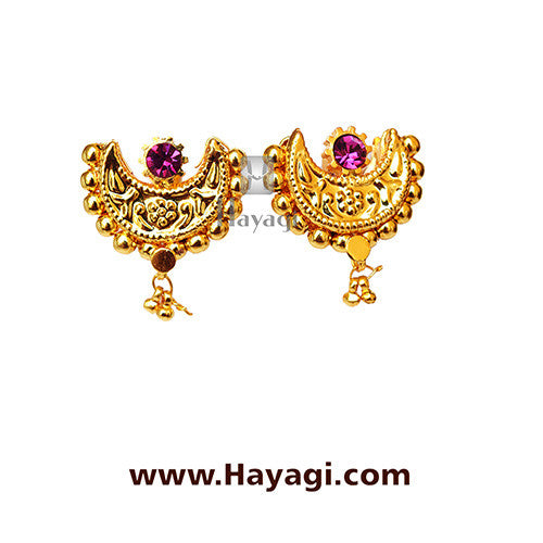 Traditional Chand Thushi Latkan Saaj Earrings Tops Online - Hayagi