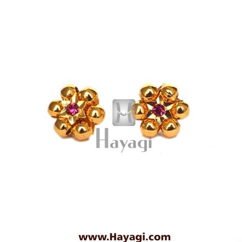 Thushi Tops Earrings 6 Gold Mani Tops Buy Online - Hayagi - Beeline  - 2