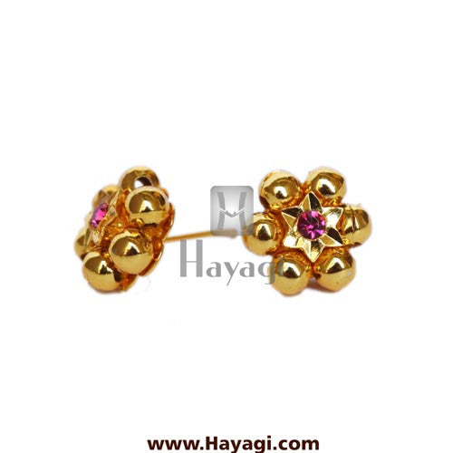 Thushi Tops Earrings 6 Gold Mani Tops Buy Online - Hayagi - Beeline  - 1
