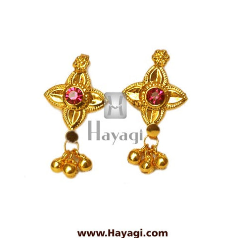 Belpan Thushi Tops, Traditional Thushi Earrings Tops Online - Hayagi