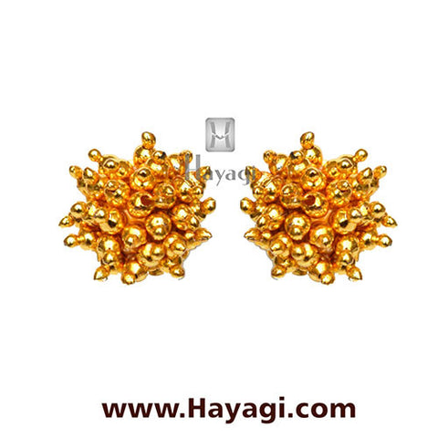 Maharashtrian Thushi Earrings Tops Online Shopping - Hayagi