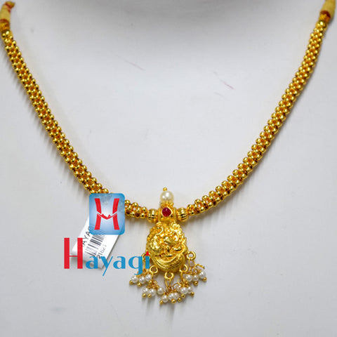 Traditional Golden Thushi Peacock Design Online_Hayagi(Pune)