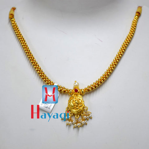 Traditional Golden Thushi Peacock Design Online - Hayagi(Pune)