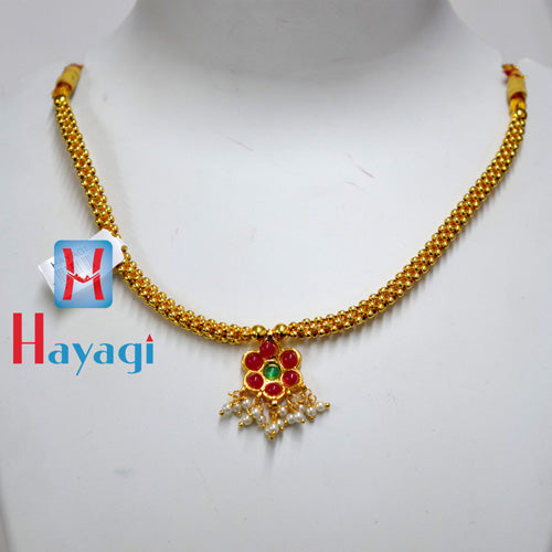 Traditional Golden Thushi Flower Design Online - Hayagi(Pune)