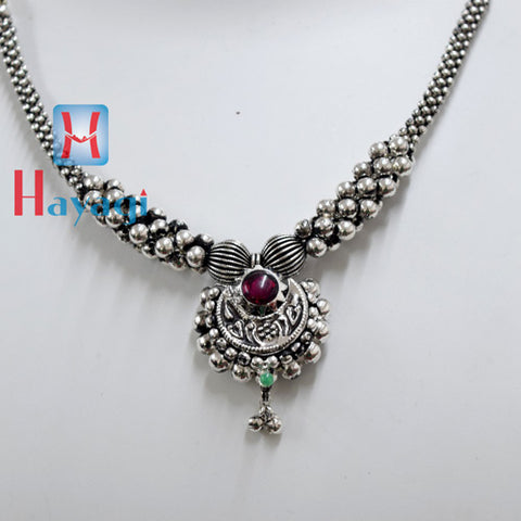 Oxidized Thushi Chandra Kor Design Online Shopping - Hayagi(Pune)