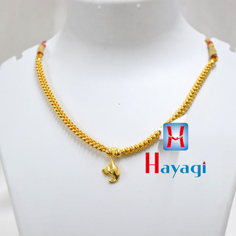 Traditional Golden Thushi Elephant Design Pendant Buy Online_Hayagi