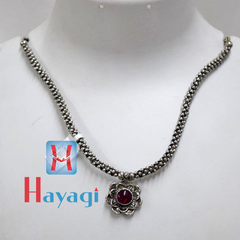 Oxidized Thushi Flower Design Online Shopping - Hayagi