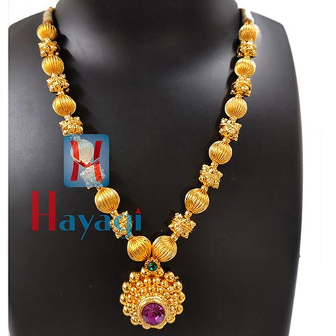 Thushi Short Necklace Saaj Pendant_Hayagi(Pune)