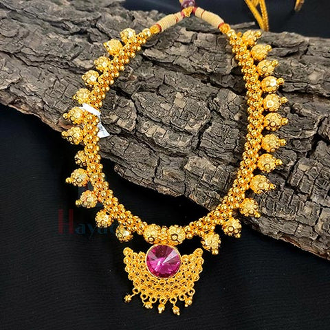 Thushi Necklace Maharashtrian Jewellery Collections _Hayagi(Pune)