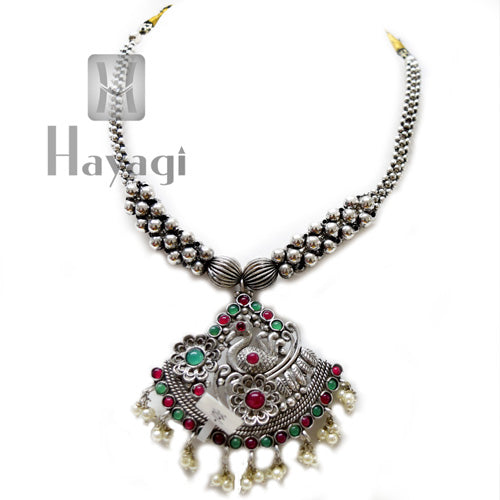 Oxidized Gatta Thushi With Pendant Online Shopping | Hayagi