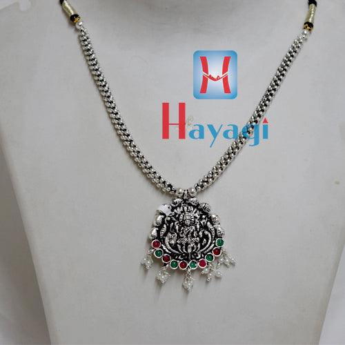 Thushi Plain Oxidized Laxmi Lord Design Online Shopping_Hayagi