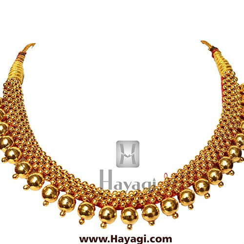 Gold Plated Vajratik Thushi Necklace -Hayagi