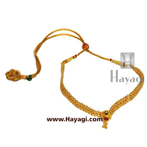 Gadi thushi patta single saj ghat necklace shopping - Hayagi - Beeline  - 2