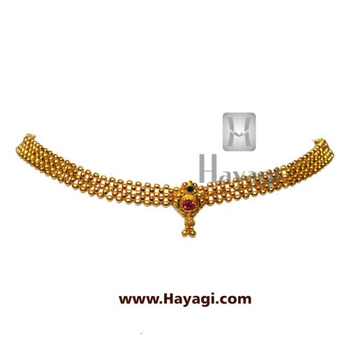 Gadi thushi patta single saj ghat necklace shopping - Hayagi - Beeline  - 1