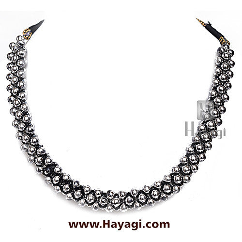 Thushi Broad Plain Oxidized Online Shopping _Hayagi