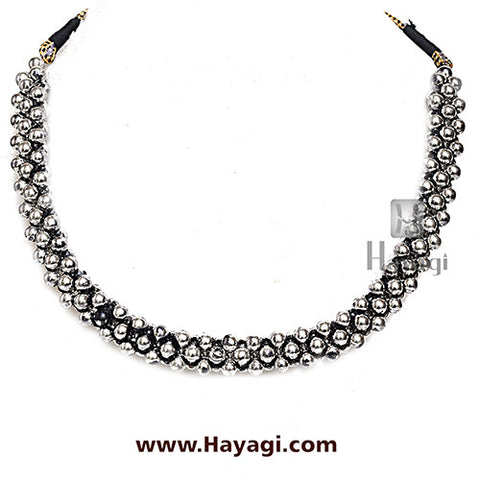 Thushi Broad Plain Oxidized Online Shopping | Hayagi