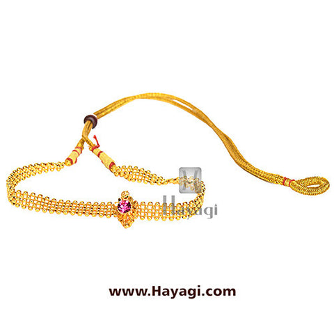 Gadi thushi patta single saj ghat necklace shopping - Hayagi