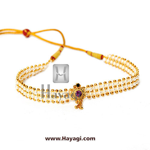 Chinchpeti Kolhapuri Pearl Single Saaj Ghat Online Shopping-Hayagi