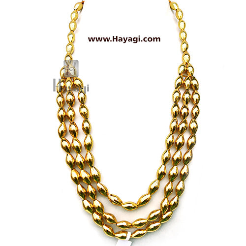 Bormala 3 Line, Ethnic Bormaal, Antique Look Necklace-Hayagi
